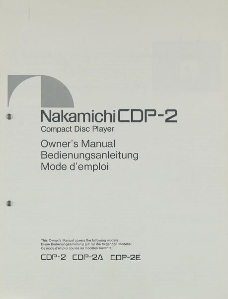 Nakamichi CDP-2 Bedienungsanleitung