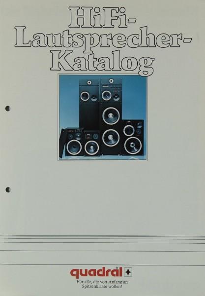 Quadral Hifi-Lautsprecher-Katalog Prospekt / Katalog