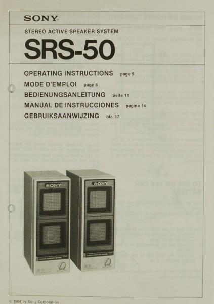 Sony SRS-50 Bedienungsanleitung