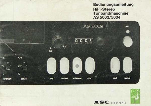 ASC AS 5002 / AS 5004 Bedienungsanleitung