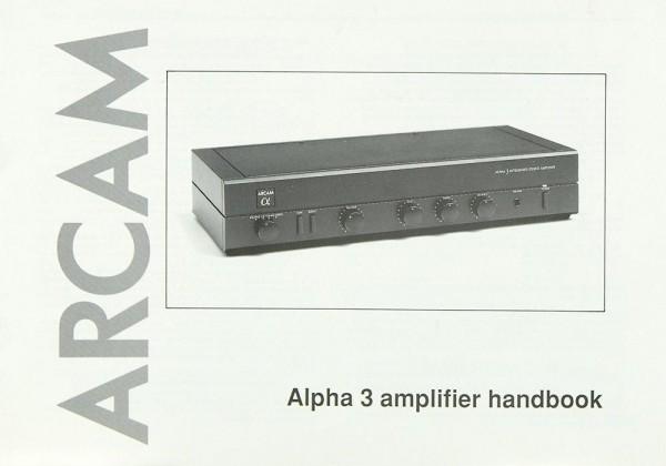 Arcam Alpha 3 Bedienungsanleitung