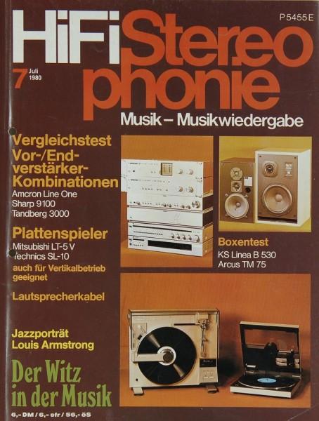 Hifi Stereophonie 7/1980 Zeitschrift