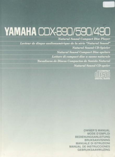 Yamaha CDX-890 / 590 / 490 Bedienungsanleitung