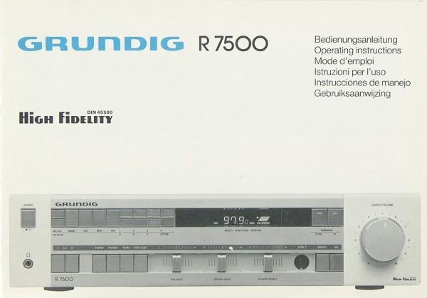 Grundig R 7500 Bedienungsanleitung