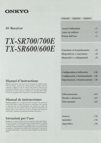 Onkyo TX-SR 700/700E / TX-SR 600/600E Bedienungsanleitung