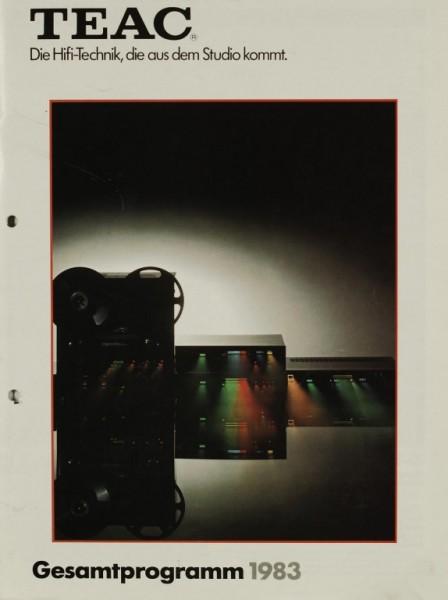 Teac Gesamtprogramm 1983 Prospekt / Katalog