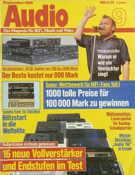 Audio 9/1986 Zeitschrift