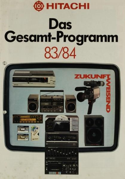 Hitachi Das Gesamt-Programm 83/84 Prospekt / Katalog