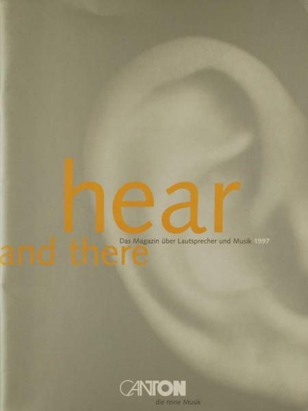 Canton Hear and There - Das Magazin über LS & Musik 1997 Prospekt / Katalog