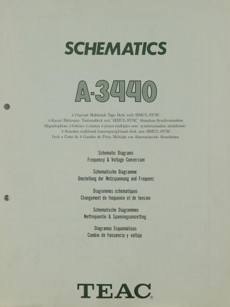 Teac A-3440 Schaltplan / Serviceunterlagen