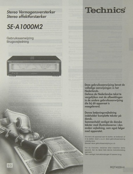 Technics SE-A 1000 M 2 Bedienungsanleitung