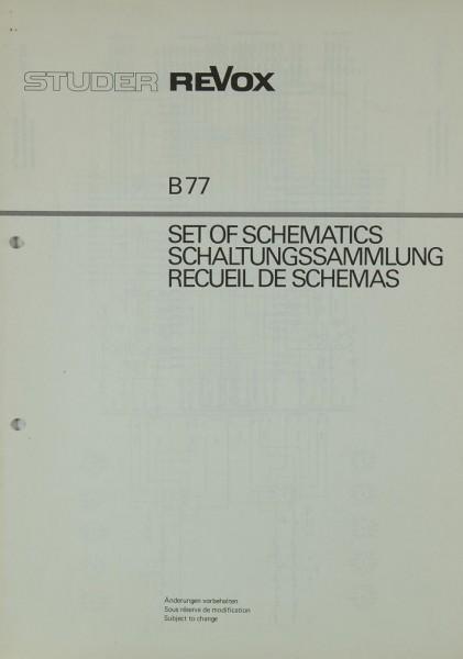 Revox B 77 Schaltplan / Serviceunterlagen
