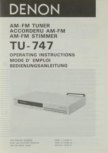 Denon TU-747 Bedienungsanleitung