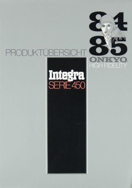 Onkyo Integra Serie 450 Prospekt / Katalog