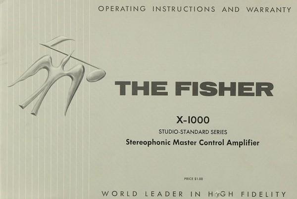 Fisher, The X-1000 Bedienungsanleitung