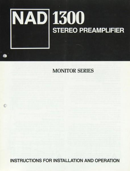 NAD 1300 Bedienungsanleitung