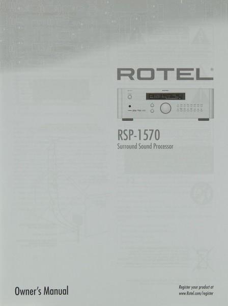 Rotel RSP-1570 Bedienungsanleitung