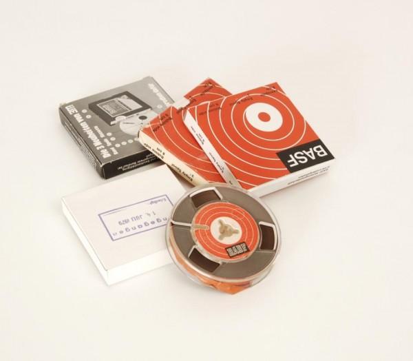 Tonbänder 8er DIN Kunstoff 8cm voll