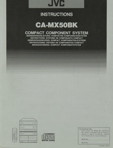 JVC CA-MX 50 BK Bedienungsanleitung
