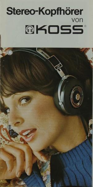 Koss Stereo-Kopfhörer Prospekt / Katalog