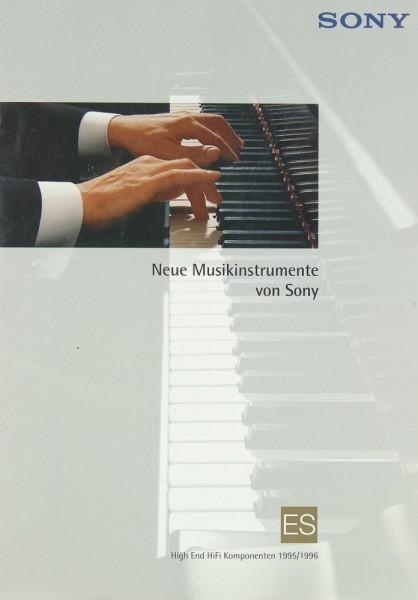 Sony Programm 1995/1996 Prospekt / Katalog