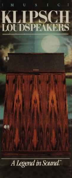 Klipsch Klipsch Loudspeakers - A Legend in Sound (1980) Prospekt / Katalog