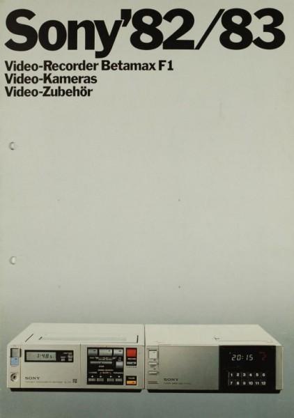 Sony Sony ´82/83 Prospekt / Katalog