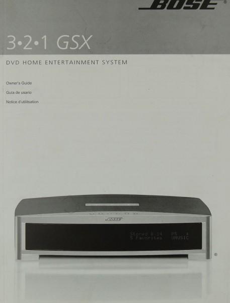 Bose 3.2.1 GSX Bedienungsanleitung