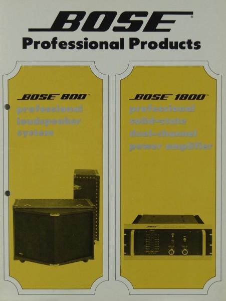Bose Bose 800 / Bose 1800 Prospekt / Katalog