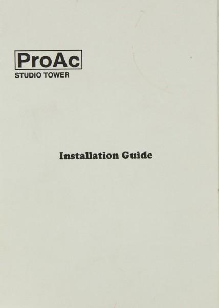 Pro Ac Studio Tower Bedienungsanleitung