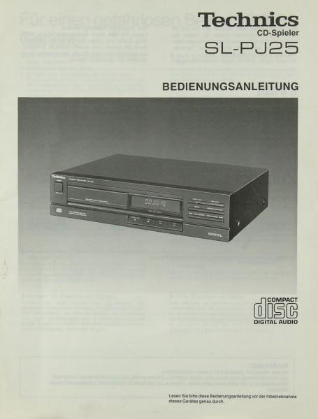 Technics SL-PJ 25 Bedienungsanleitung