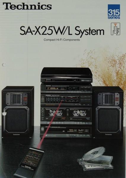 Technics SA-X 25 W / L System Prospekt / Katalog