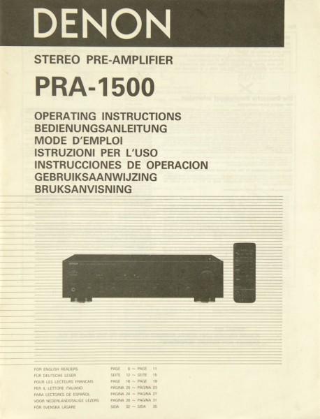 Denon PRA-1500 Bedienungsanleitung