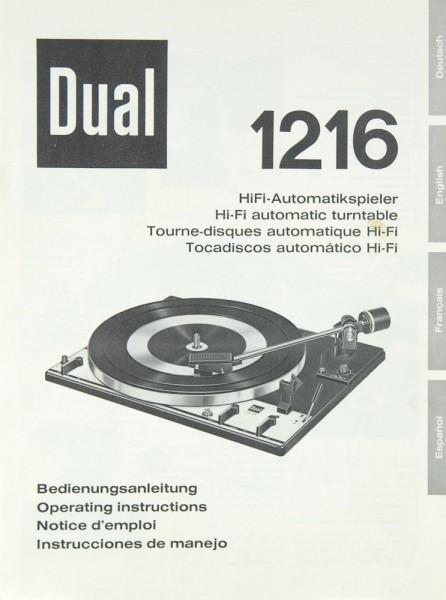 Dual 1216 Bedienungsanleitung