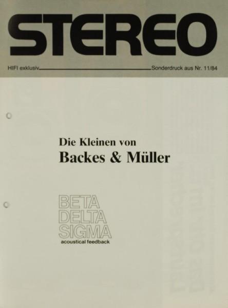 Backes & Müller Beta / Delta / Sigma Testnachdruck