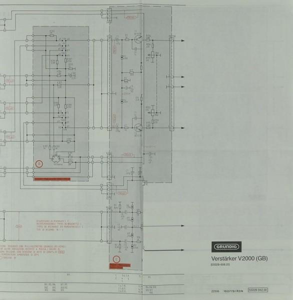 Grundig V 2000  Gb  Schematics    Service Manual