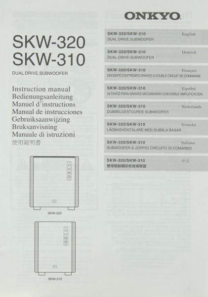 Onkyo SKW-320 / SKW-310 Bedienungsanleitung