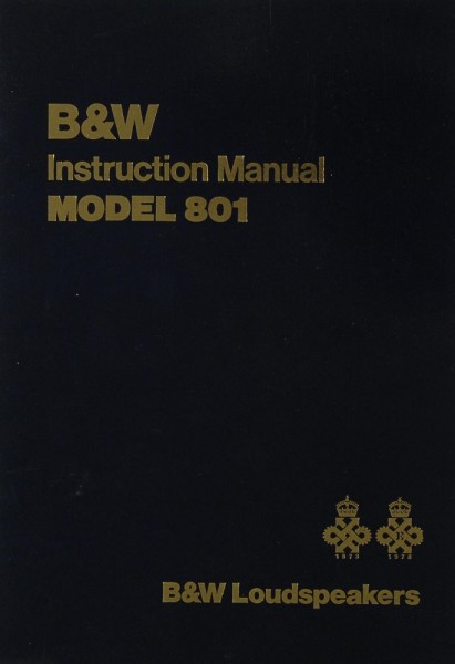 B & W Model 801 Bedienungsanleitung