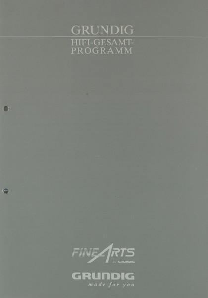 Fine Arts / Grundig Grundig Hifi-Gesamtprogramm Prospekt / Katalog