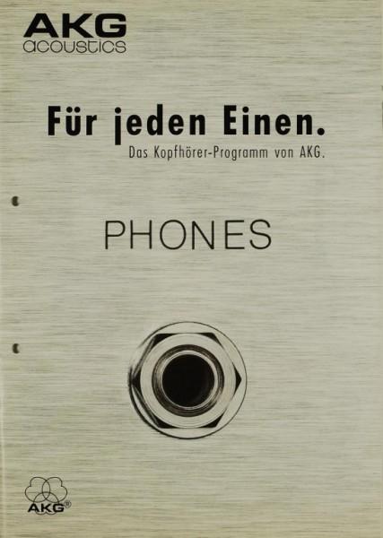 AKG acoustics Für jeden Einen. Phones. Prospekt / Katalog