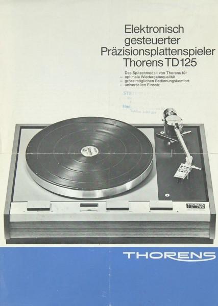 Thorens TD 125 Prospekt / Katalog