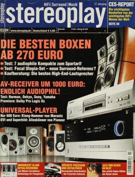 Stereoplay 3/2004 Zeitschrift