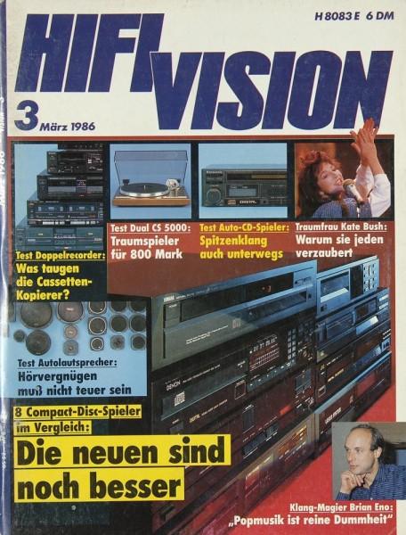 Hifi Vision 3/1986 Zeitschrift