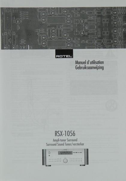 Rotel RSX-1560 Bedienungsanleitung