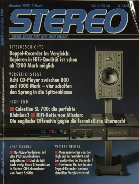 Stereo 10/1988 Zeitschrift