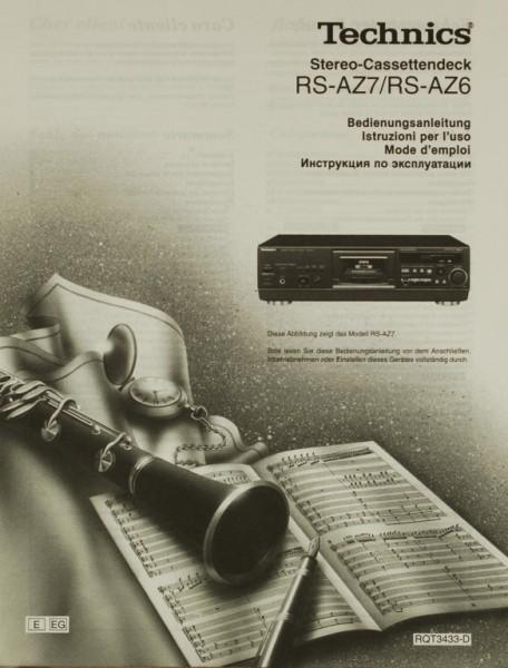 Technics RS-AZ 7 / RS-AZ 6 Bedienungsanleitung