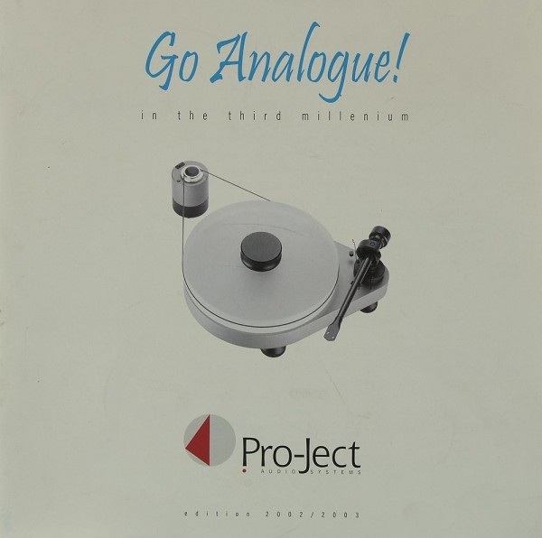Pro-Ject Go Analogue! / Edition 2002/2003 Prospekt / Katalog