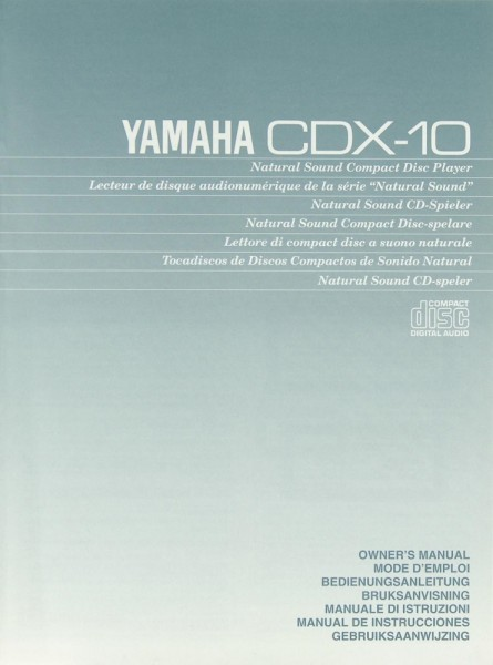 Yamaha CDX-10 Bedienungsanleitung
