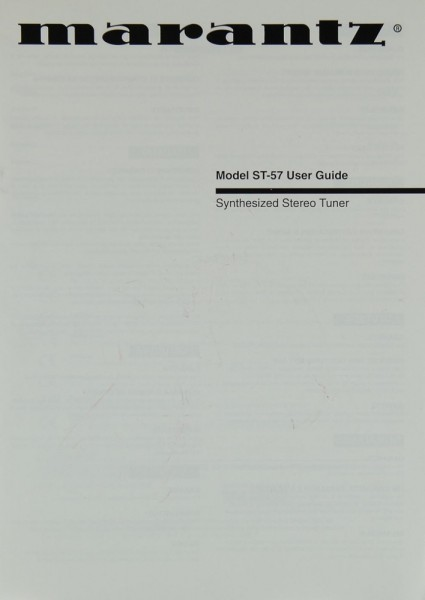 Marantz ST-57 Bedienungsanleitung