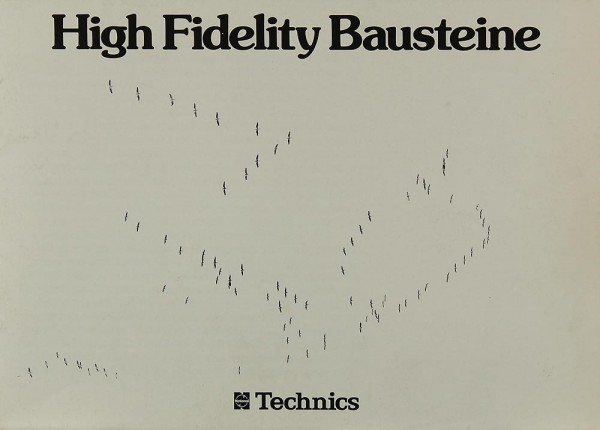 Technics High Fidelity Bausteine Prospekt / Katalog